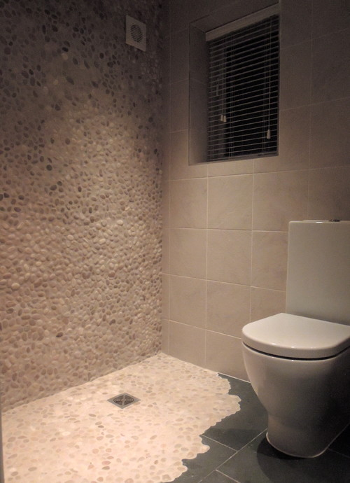 Small cloakroom to wet room for Wet floor bathroom designs