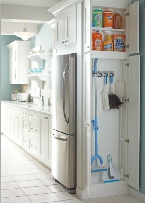 Exceptional Broom Closets: Shallow Cabinet Vs Pull Out?