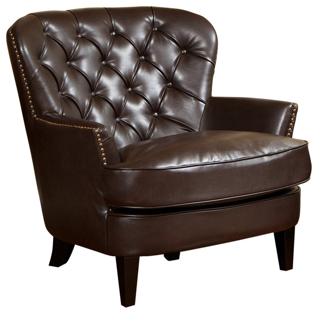Best Selling Home Decor Tafton Tufted Bonded Leather Club Chair