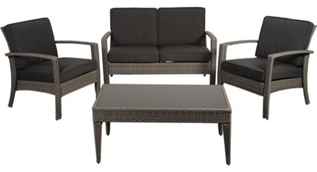 International Home Miami 4-Piece Florida Conversation Set, Gray.