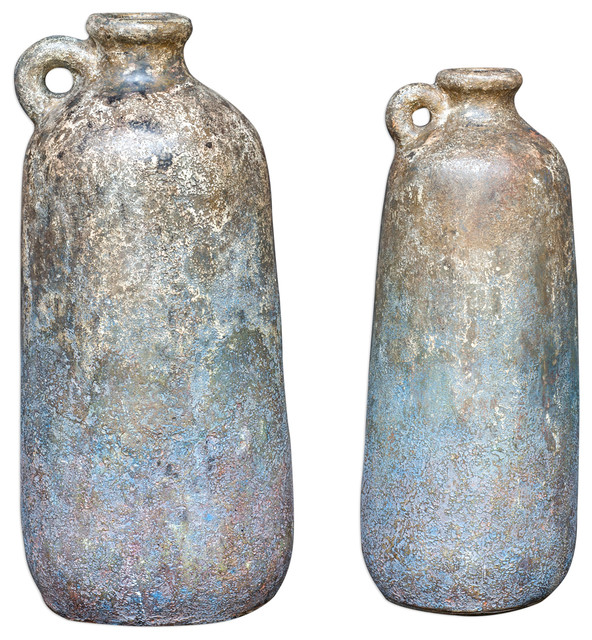 Uttermost 2-Piece Ragini Terracotta Bottles Set