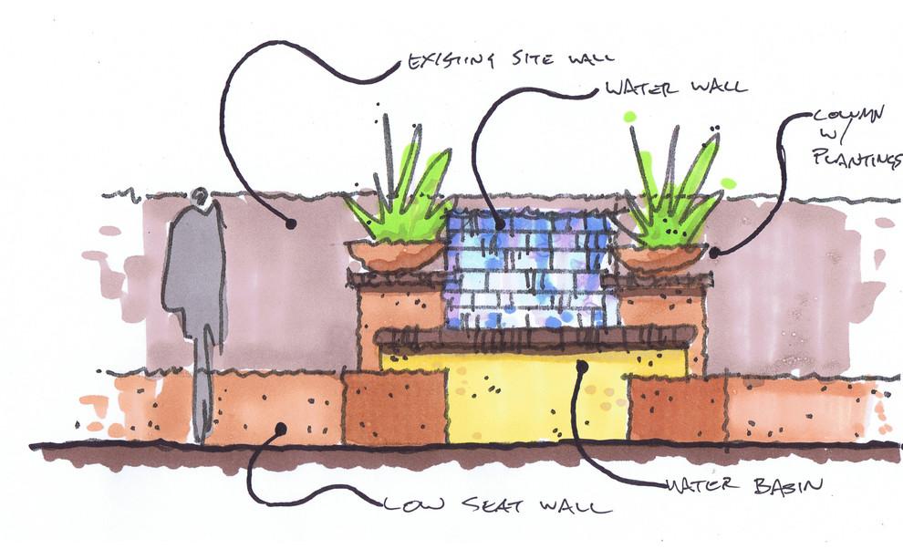 Water Feature Conceptual Sketch