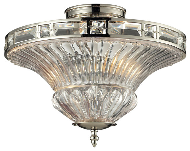 Elk Lighting 31500/2 Aubree 2-Light Semi Flush Light.