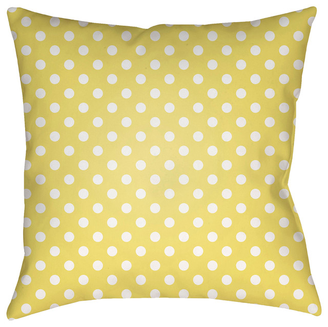 "Surya Dottie 18""x18"" Medium Square Throw Pillow"
