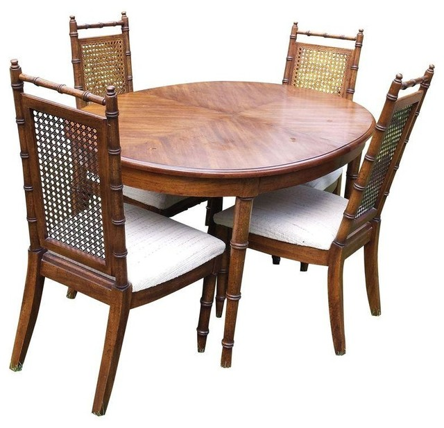 Pre-owned American of Martinsville Faux Bamboo Dining Table