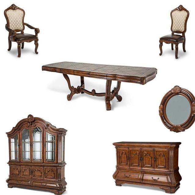 Tuscano Melange Dining Room Set, 14 Piece Set