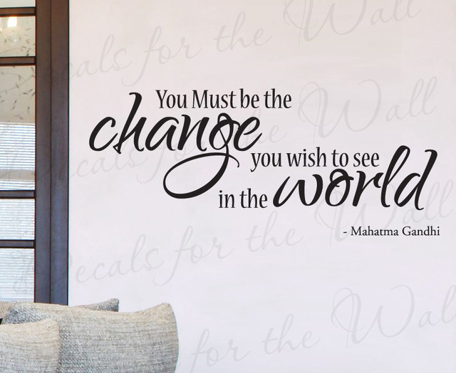 Superior Wall Decal Sticker Quote Vinyl Art Lettering You Must Be The Change Gandhi  IN47 Modern