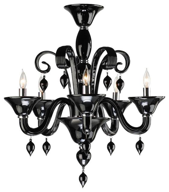 Treviso contemporary black 5 light murano glass chandelier treviso contemporary black 5 light murano glass chandelier aloadofball Choice Image