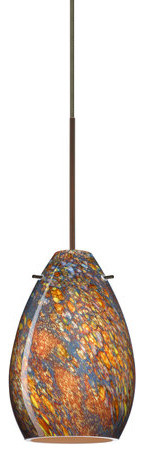 Besa Lighting 1xt-1713ce Pera 1 Light Cord-Hung Mini Pendant.