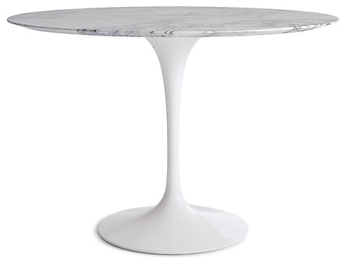 Round Carrara Marble Dining Tulip Table, 48 Round Marble Table Top