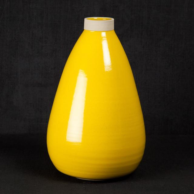 les guimards vase large yellow modern vases by. Black Bedroom Furniture Sets. Home Design Ideas