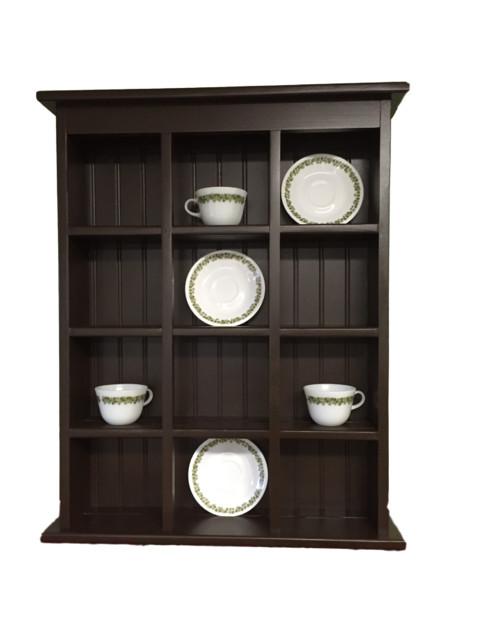 Tea Cup And Saucer Plate Rack Kitchen Display Shelf Counter Top Or Wall Hang