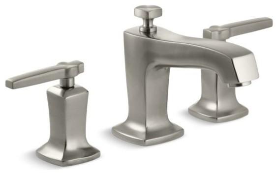 Kohler Margaux Widespread Bathroom Faucets, Vibrant Brushed Nickel