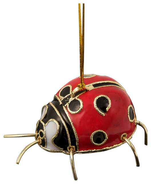Cloisonne Ladybug Ornament - Cloisonne Ladybug Ornament - Traditional - Christmas Ornaments - By