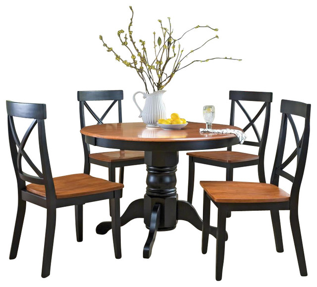 Shop Houzz Home Styles Furniture Home Styles 5 Piece Round Pedestal Dining