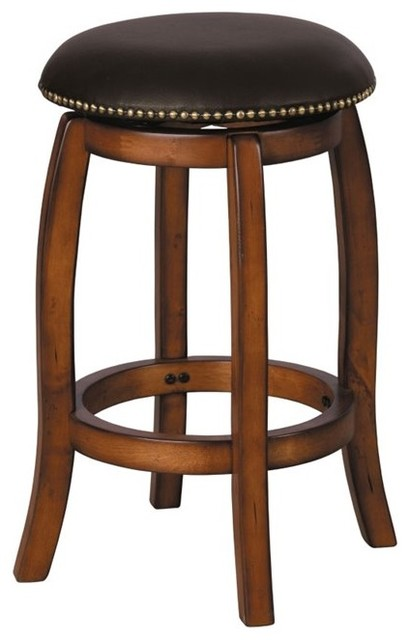 Acme Chelsea Counter Height Stool Swivel Black And Oak