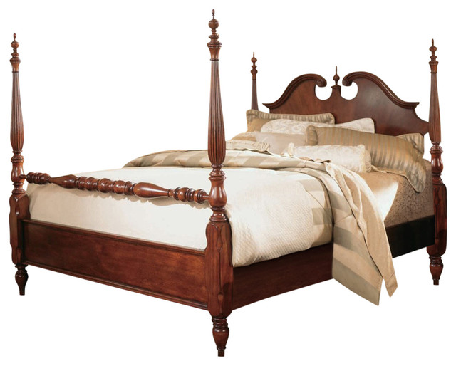 American Drew Cherry Grove Low Poster Bed Canopy Beds