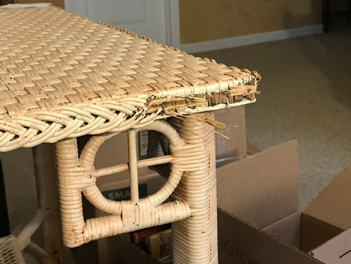amazing moves movers ruined an antique wicker covered oak table what