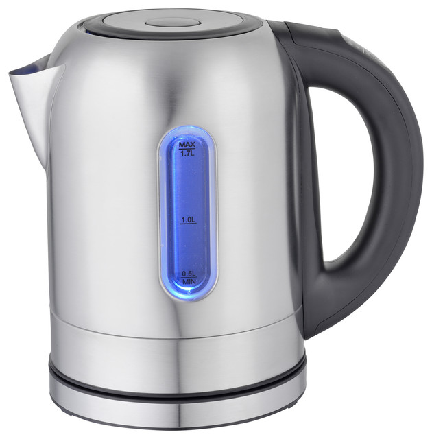 Megachef 1.7lt. Stainless Steel Electric Tea Kettle With 5 Preset Temps.