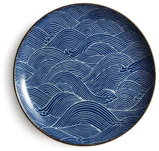 sc 1 st  Houzz & Aranami Plate Blue - Asian - Dinner Plates - by Miya Company