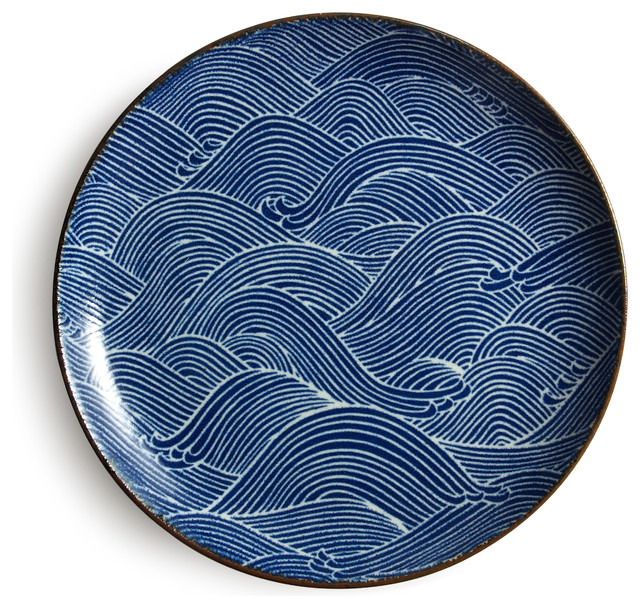 Aranami Blue 10  Plate  sc 1 st  Houzz : picture dinner plate - pezcame.com