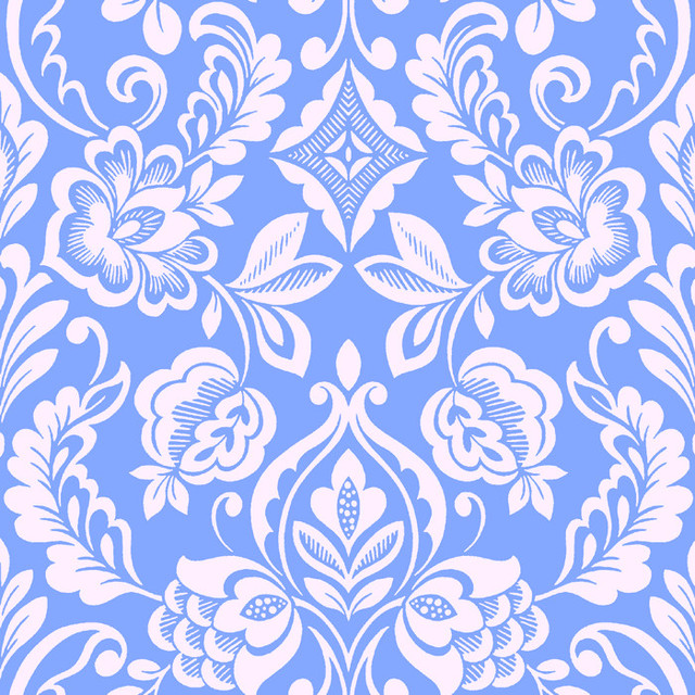 Design Your Wall Brocade Bloom Damask Periwinkle