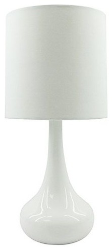Teardrop Table Lamp, White - Contemporary - Table Lamps - by Rove ...