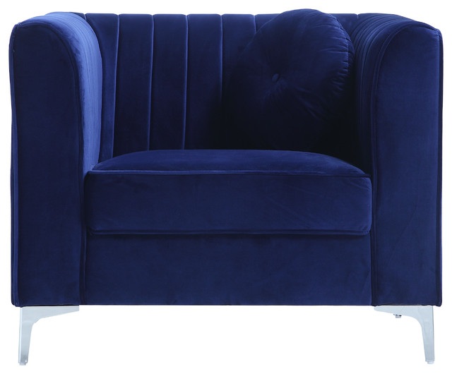 Traditional Living Room Marilyn Velvet Armchair