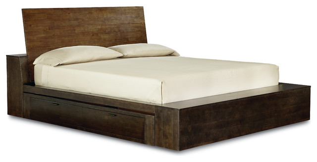 Metropolitan Platform Bed, King Size, 2 Sets Of Drawers.