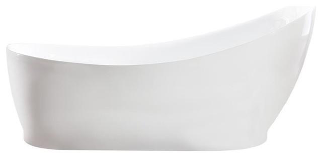 "Streamline 68"" Soaking Freestanding Tub With Internal Drain."