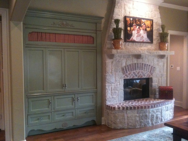 Built In French Country Traditional Entertainment Centers And Tv Stands Dallas By Jb Woodwork