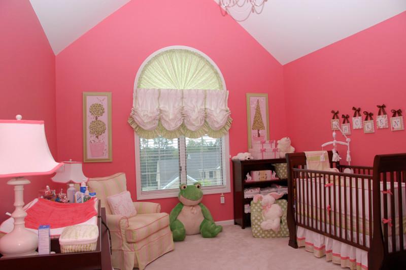 Nursery with Custom Window Treatments