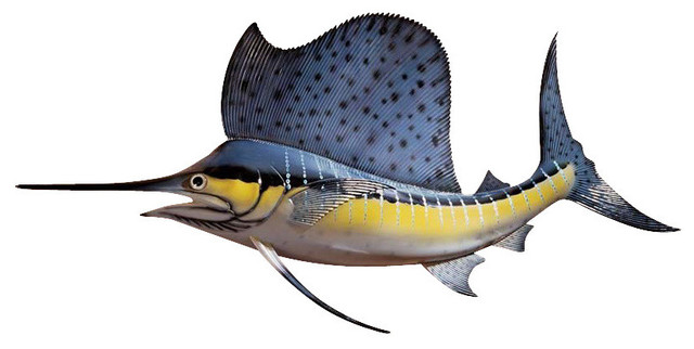 Key West Sailfish Trophy Wall Sculpture.