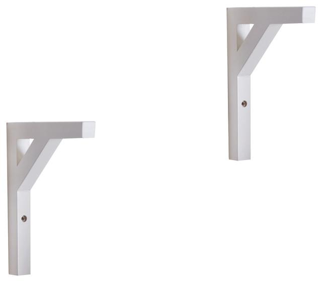 solid wood shelf brackets pack of 2 white. Black Bedroom Furniture Sets. Home Design Ideas