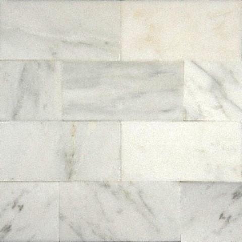 Carrara Polished Tile, Arabescato, Sample.