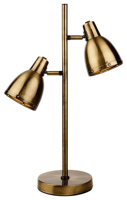 Vogue Contemporary Table Lamp, Antique Brass