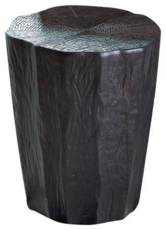 Superb Black Tree Stump Stool Accent Table Naturalist Trunk Indoor Outdoor Garden Camellatalisay Diy Chair Ideas Camellatalisaycom