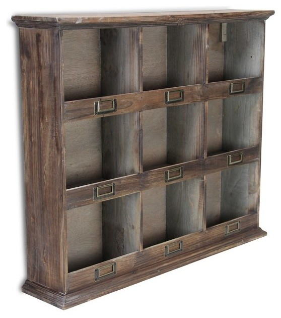 Reclaimed Wood Wall Cubby Storage 16 Cubby Hole Home Decor