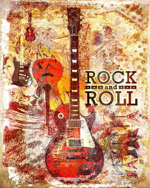 Spark Art Rock And Roll Artwork Guitar Art Print Rock N