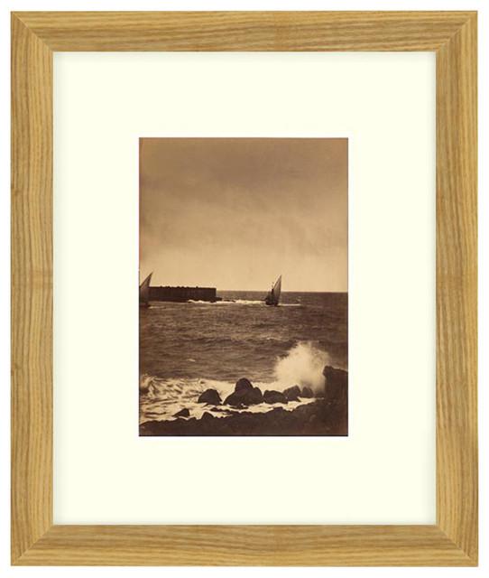 """Breaking Wave"" Sepia Tone Framed Photo, 20""X24"""