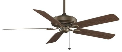 60 Edgewood 60 Deluxe Wet Location Ceiling Fan, Aged Bronze Finish.