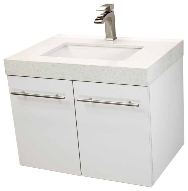 Payton Floating Vanity White Quartz With Undermount Sink 30