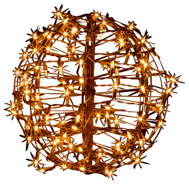 15 fold flat christmas sphere 100 clear incandescent lights - Outdoor Christmas Ball Decorations