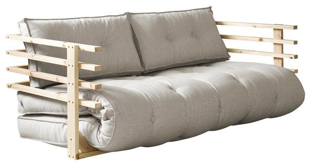 Karup Design Funk Sofa, Natural, Clear Lacquer Frame