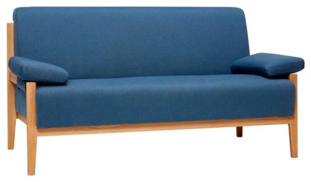 Hübsch Danish Sofa, Blue, 2 Seater
