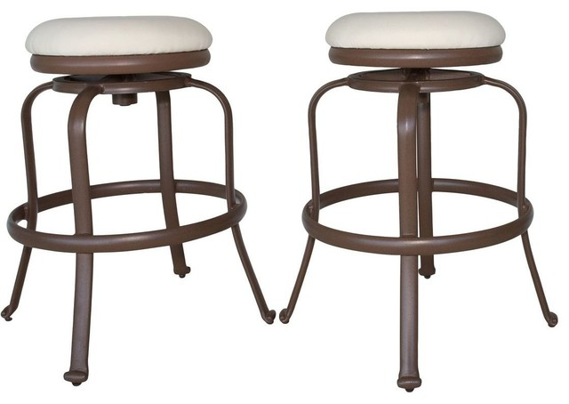 Pleasing Panama Jack Tiki Backless Swivel Barstools Espresso Set Of 2 Gmtry Best Dining Table And Chair Ideas Images Gmtryco