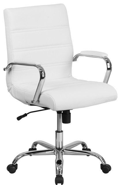White Mid-Back Executive Chair.