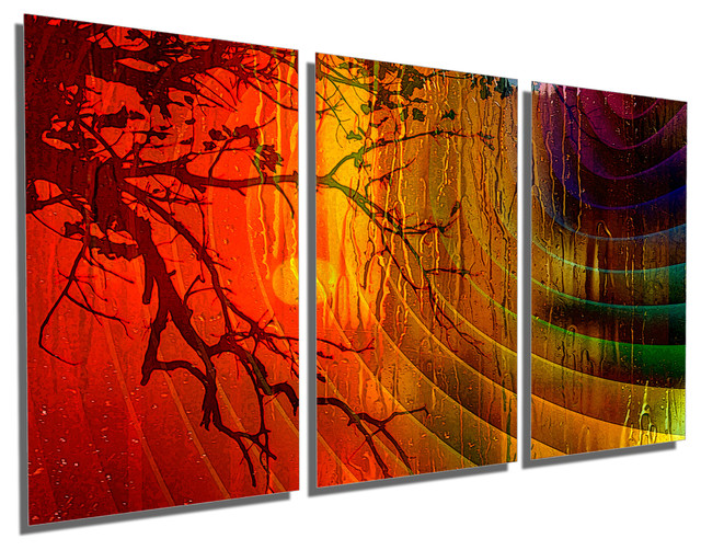 Triptych Wall Art abstract art, metal print wall art, 3 panel split, triptych wall
