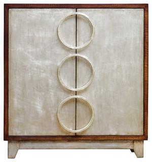 Jacinta Silver Cabinet by designer Matthew Williams