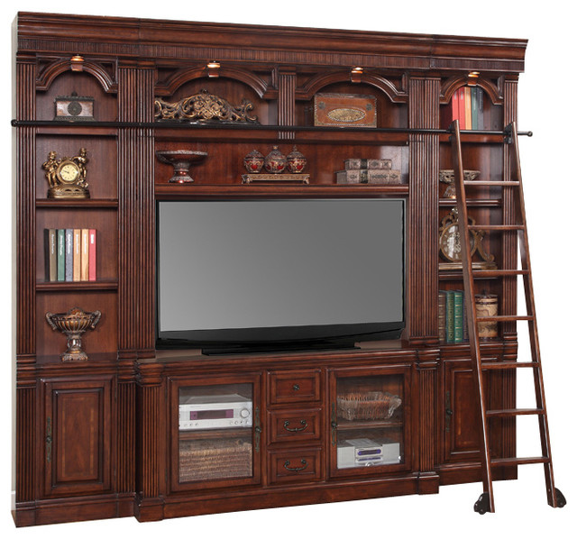 4 Piece Wellington Library 60 Quot Space Saver Wall Unit